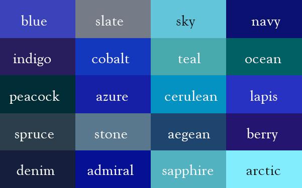 สีในภาษาอังกฤษ